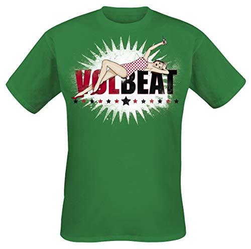 Volbeat Pin Up Logo Camiseta Verde M