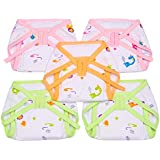 Littly Cushioned Cotton Nappies Combo - Pack of 5 (White)