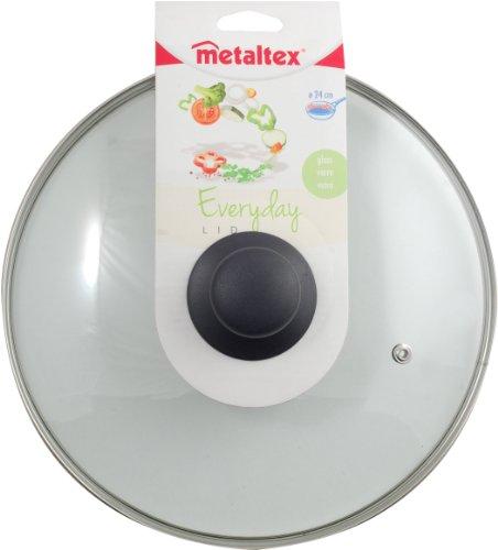 Metaltex Everyday - Couvercle en verre avec bouton 24 cm vert lime