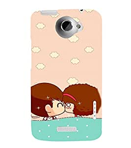 Cute Romance Clipart 3D Hard Polycarbonate Designer Back Case Cover for HTC One X :: HTC One X+ :: HTC One X Plus :: HTC One XT
