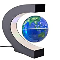 specificazione Globo Colore: argento/nero plastica globo Globe Diametro: 7,6cm A forma di C Materiale della base: ABS, gomma olio rivestito A forma di C Colore: nero opaco A forma di C Dimensioni della base: 17,8x 8,4x 17cm Adattatore da ...
