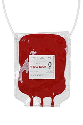 Wilbers Kostüm Zubehör Tasche Handtasche Blutbeutel Horror Krankenschwester (Handtasche Kostüm Zubehör)