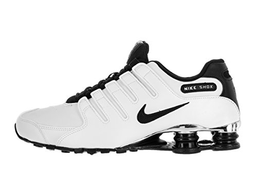 Nike Mens Shox NZ Premium Synthetic Trainers Blanc
