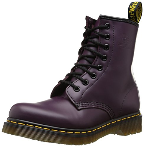 Dr. Martens 1460, Boots mixte adulte, Noir(Violet Purple Smooth) 36 EU
