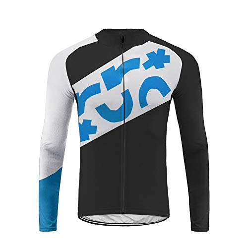 Uglyfrog Bike Wear Herren Langarm, Thermo-Fahrrad-Jersey, Lycra Selected Fabrics, Thermo Fleece Trikots & Shirts