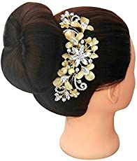 VOGUE Hair Accessories Golden Copper Comb Clip for Women