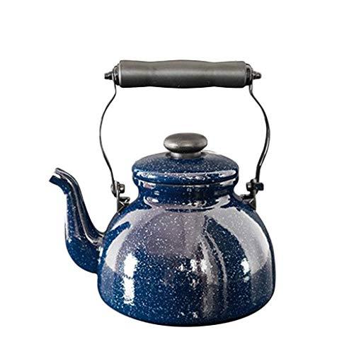 SCJS Enamel 2L Whistle Kettle Induction Cooker Gas Teapot Called Pot Self-Control Pot Quart Flame Top