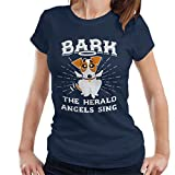 Bark The Herald Angels Sing Dog Christmas Women's T-Shirt