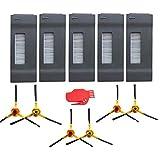 NUEVO (5filtro HEPA + 6Cepillos laterales) piezas de repuesto para Ecovacs Deebot M80Pro Ecovacs Deebot DT85dt83dm81dm85Juego de accesorios para aspiradoras