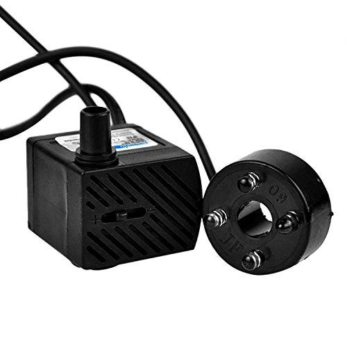 3W 180L / H Tauchwasserpumpe mit LED-Lichtauslassdüsen Für Aquarium Brunnen Pool Gartenteich EU Typ