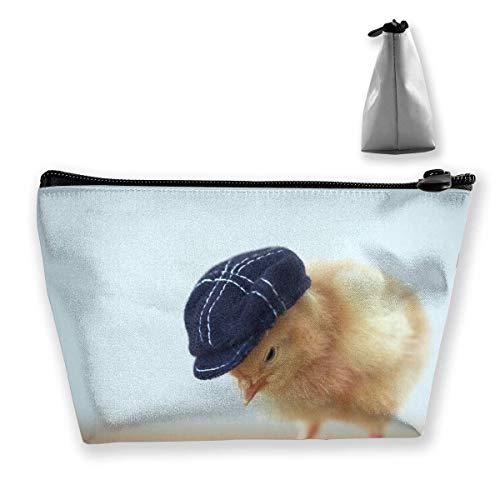 Kosmetiktasche Trapez Aufbewahrungstasche Mode Hühner Ostern Hut Reise Kosmetiktasche Tolietry Taschen mit Reißverschluss