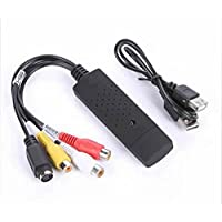 Xining USB 2.0Adaptador de tarjeta de captura de vídeo VCR VHS Audio para PC AV S-Video Dvd para Windows 2000XP Vista Win7