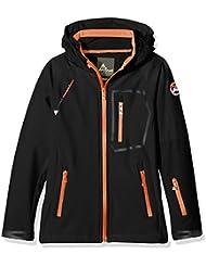 Peak Mountain Ecimala – Chaqueta para niño, Niño, color negro/naranja, tamaño 14 años