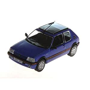 Voitures miniature de collection Peugeot 205 1.9 GTI miami blue 1/43. - Bleu