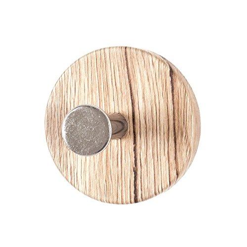 8er Set Garderobenknopf in eiche San Remo; Durchmesser: 7 cm