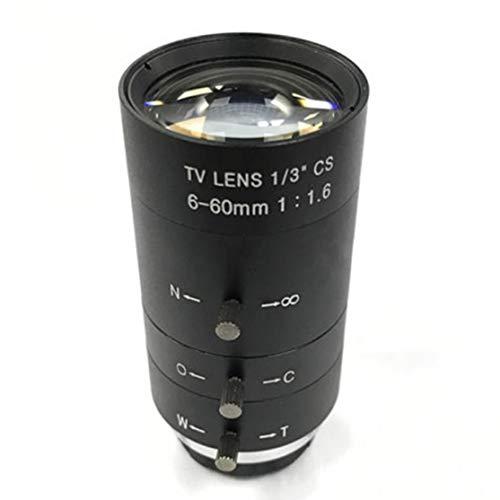 CCTV-Videoobjektiv Handbuch IRIS Zoom 6-60mm CS-Mount-Objektiv für Industrie Mikroskop Gleitsicht CCTV-Objektiv Surveillance Camera Lens