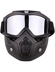 TENGER Cool Style Tactical Mask Soft Bullet Dart Protective Mirror Face Mask for Nerf,5*18*18.5cm