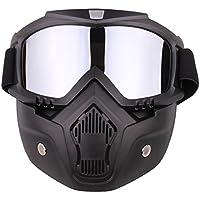 Máscara Airsoft, lommer desmontable clásico estilo protección máscara facial máscara táctica Máscara Gafas para Nerf, paintball y CS parte, color Sibver, tamaño 5 * 18 * 18.5cm