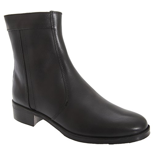 Scimitar Black Leather Executive Zip Boots