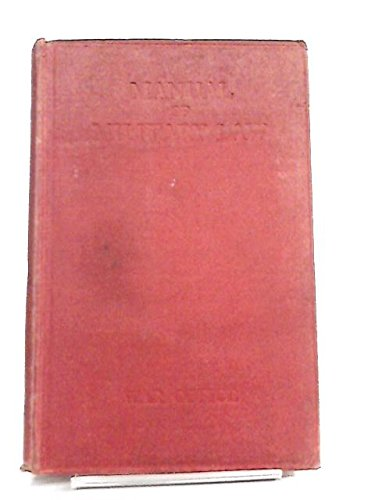 Manual Of Military Law 1929