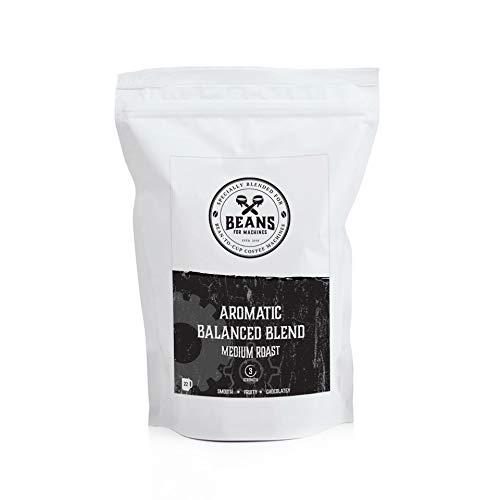 Grains de café à torréfaction moyenne, 227g, spécialement mélangés et torréfiés pour les machines automatiques à grains, mélange Aromatic Balanced, Beans for Machines
