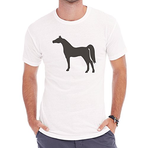 Horse Animal Pony Stud Long Legs Herren T-Shirt Weiß