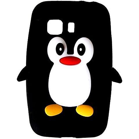 SKS Distribution® negro silicona pingüino FUNDA / CARCASA / COVER para Samsung Galaxy Young 2