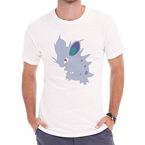 Pokemon Nidoran Poison Ground Vector Blue Herren T-Shirt Weiß