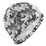 Gebrb Gorro de Baño/Gorro de Natacion, Men's Swim Cap Abstract Camo Camouflage Anti-Slip Waterproof Comfy Swimming Caps
