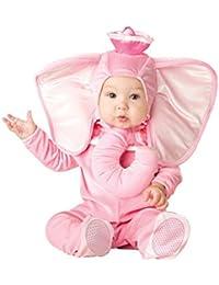 Color rosa elefante animales bebé disfraz 3 – 24 M manga larga de franela  One piece 5eb74fd9ade