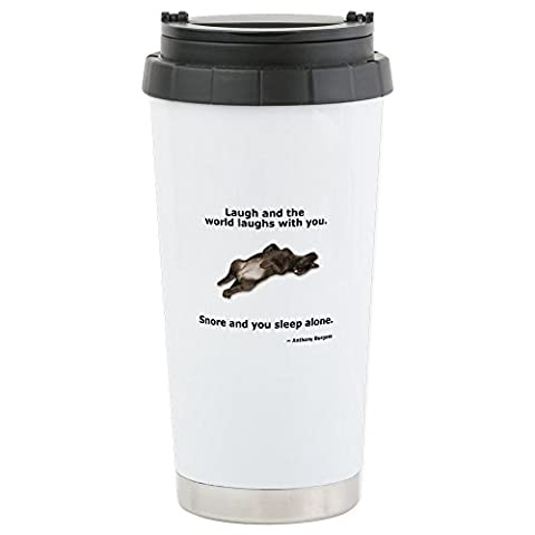 CafePress - Snoring Chocolate Labrador Stainless Steel Travel - Stainless Steel Travel Mug, Insulated 16 oz. Coffee & Tea
