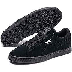 Puma - Suede Classic+ - Baskets mode - Mixte Adulte - Noir (black-dark shadow) - 44 EU