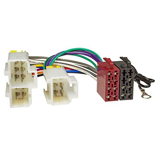 tomzz Audio 7038-000 Radio Adapter Kabel passend für Nissan 100 200 300 Almera Micra Primera bis 2000, auf 16pol ISO Norm Alpine-adapter