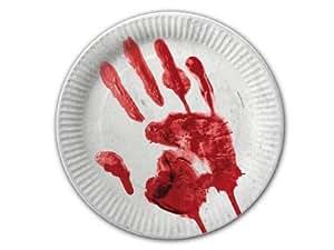 10 Teller * Halloween * in Ø23cm von DH-Konzept // Pappteller Party Geburtstag Horror Zombie Gruseln Schream Blut Halloween Scream Schock