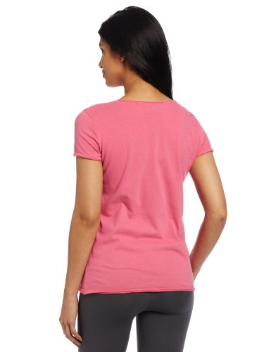 Life is Good Damen Mini Knopfleiste Cremige Tee hot pink
