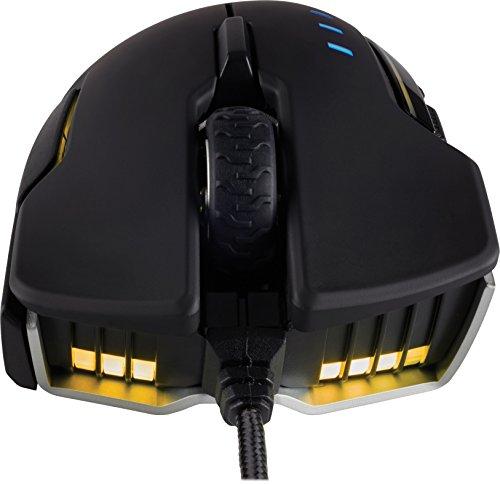Corsair Glaive Rgb Optical Gaming Mouse (16,000 Dpi Optical Sensor, Interchangable Thumbgrips, 3-zone Rgb Multicolour Lighting, On-board Storage) - Aluminium