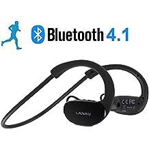 lanau Sport Wireless Bluetooth cuffie auricolari stereo audio HD cancellazione