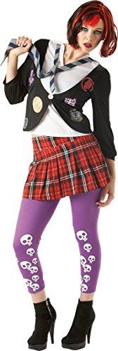 St Kostüm Fancy Trinians Dress - St Trinian's Emo - Adult Costume Lady : X SMALL