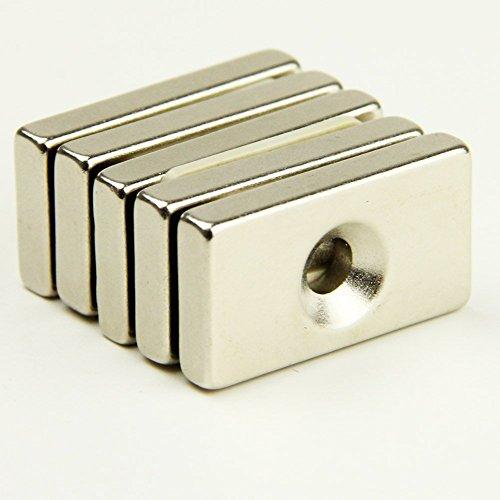 Runde Scheibe Kühlschrank Magneten Loch 5 mm seltene Erden N42 Neodym (A)