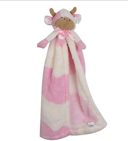 Jouets Jouets Jouets pour enfants Bébé Douillette Serviette de Coton Doux Serviette de Main Jouets Peluches Vaches Jouet_Pink ef50aa