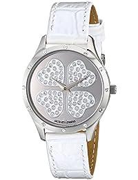 Jacques Lemans Damen-Armbanduhr XS Rome Analog Quarz Leder 1-1803F