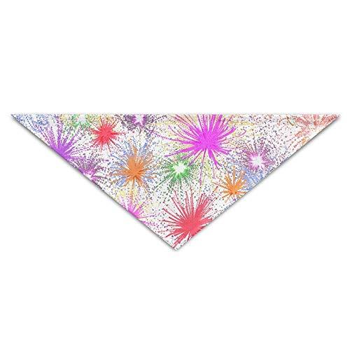 dfegyfr Color Fireworks Triangle Pet Scarf Dog Bandana Pet Collars for Dog Cat - Birthday