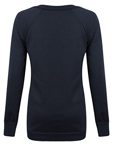 Fast Fashion - Sweat Shirt De Geek Drogue Cocaïne Brooklyn Imprimer Toison Haut - Femmes Cocaïne Marine