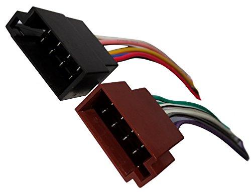 Aerzetix: ISO Anschlussstecker 8 PIN x2 Autoradio Universal vorverdrahtet mit Kable + Sound-Lautsprecher Lautsprecher