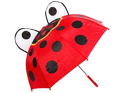 Alsino Kinder Regenschirm Kinderschirm Marienkäfer Frosch Ente Schirm Kinderregenschirm Jungen Mädchen, Variante wählen:61/1960 (Kind Kostüme Marienkäfer)