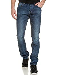 Deeluxe 74 - Jeans Bleu Délavé Coupe Droite Ajustée