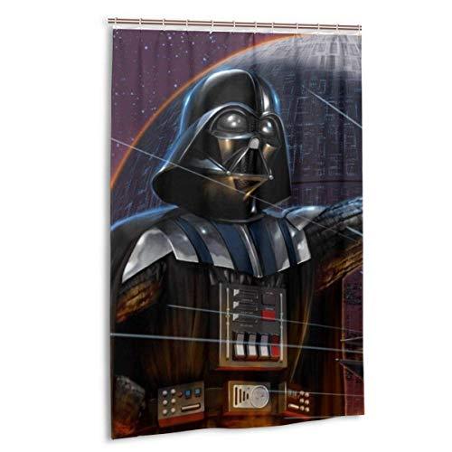 milkcolor St-AR_Wa-rs Darth Vader Duschvorhang Liner Wasserdichtes Polyestergewebe Duschvorhang Duschvorhang aus Stoff 12 Haken 48 x 72 Zoll