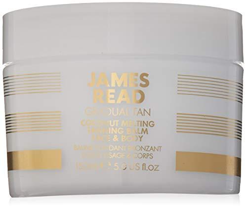 JAMES READ Fein schmelzender Kokos-Bräunungs Balsam für Gesicht und Körper 150 ml HELL/MITTEL Allmählicher Selbstbräunungseffekt, Feuchtigkeitsspendendes Öl nährt die Haut und pflegt sie weich