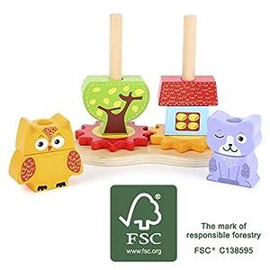 small foot company- Juego de Encaje Hecho de prácticos Bloques de construcción con Motivos de Colores Juguetes, Multicolor (Small Foot by Legler 11015)