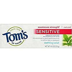 Pack of 11 : Toms of Maine Sensitive Maximum Strength Natural Toothpaste, Soothing Mint 4 oz (Pack of 11)